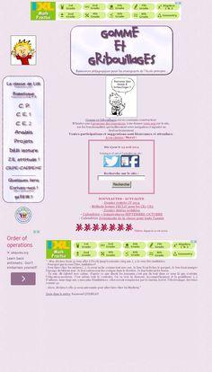 GOMME ET GRIBOUILLAGES : ressources pour les enseignants de l'école primaire (CP - CE1 - CE2 ...) - The website 'http://www.gommeetgribouillages.fr/' courtesy of @Pinstamatic (http://pinstamatic.com)