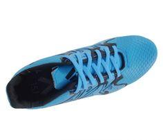 Chuteira Futsal Adidas X 15.4 Azul Bebê - Cabedal confeccionado em material sintético. Conta com fechamento em cadarço e etiqueta interna. Traz o logotipo da marca na língua, parte traseira e solado. Forro sintético com com reforço acolchoad...