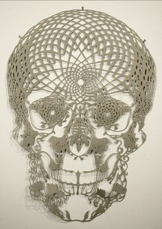 Hunter Stabler paper cut skull