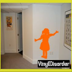 Cowgirl Kid Wall Decal - Vinyl Decal - Car Decal - NS001