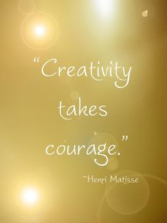 ✫ Creativity takes Courage ✫  | ❤ | rePinned by CamerinRoss.com |
