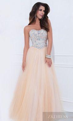 Embellished Long Natural Sleeveless Elastic woven satin Prom Dresses Cheap zkdress26781
