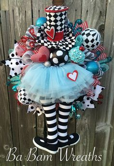 Alice In Wonderland Wreath Alice Decor Alice Party by BaBamWreaths