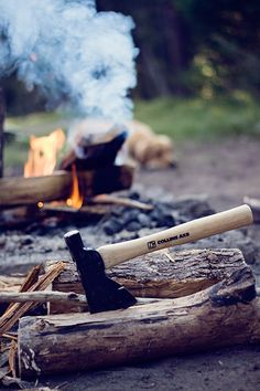 """""""Chop your own wood and it will warm you twice"""". Quote by Henry Ford. Camping Glamping, Outdoor Camping, Camping Axe, Henry Ford, Conquistador, Sleeping Under The Stars, Cabins In The Woods, Lets Go, Back To Nature"""