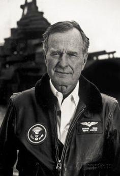 President George HW Bush Naval Aviator Archival Photo Poster Print Masterprint at AllPosters.com