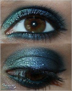 Green Blue Eye Make Up - Datum: 10.04.2012  http://talasia.blogspot.de/2012/04/tag-kleines-lidschatten-1x1-grun-blau_25.html