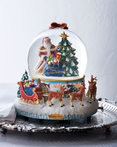 Image detail for -25th Anniversary Christmas Snow Globe - Neiman Marcus