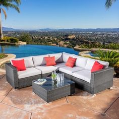 Shop for Christopher Knight Home Santa Rosa Outdoor 6-piece Wicker Seating Sectional Set with Cushions. Get free delivery at Overstock.com - Your Online Garden