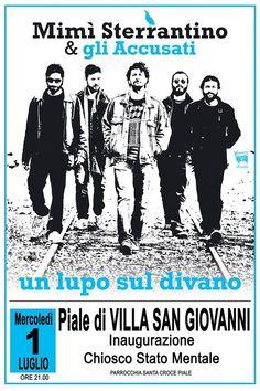 Mimí Sterrantino and gli Accusati in Concerto @ Chiosco Stato Mentale - Piazza Giovanni Paolo II - Piale di Villa San Giovanni - 1-Luglio https://www.evensi.com/mimi-sterrantino-amp-gli-accusati-in-concerto-chiosco-stato/155279657