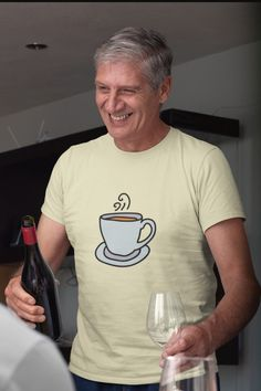 You can't get any better than this Coffe Mug T Shirt. Elegant, any coffe lover will love to receive. Click the link for details! Coffee World, Coffee Accessories, Custom Tee Shirts, Unique Coffee Mugs, Coffee Drinkers, Coffee Lovers, Shirt Style, Shirt Designs, Elegant