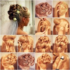 How to Make Beautiful Updo Bridal Hairstyle for Wedding tutorial and instruction.