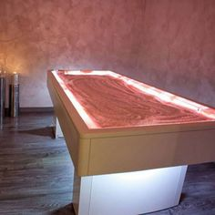 Massage bed with himalayan salt Crystals by ISO Benessere