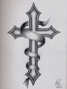 Images For > Catholic Cross Tattoo Designs For Men