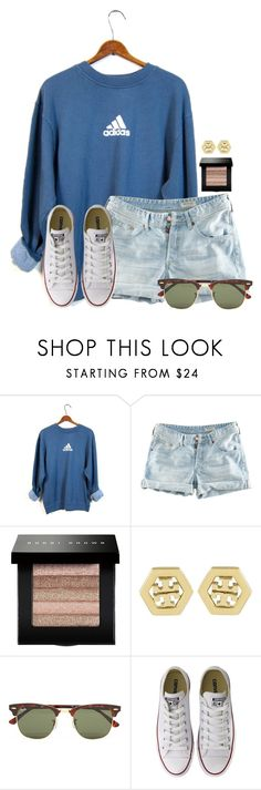 """""""~lemonade mouth~"""" by flroasburn ❤ liked on Polyvore featuring adidas, H&M, Bobbi Brown Cosmetics, Tory Burch, Ray-Ban and Converse"""