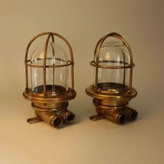 Pair of Small Wall mounted vintage Nautical Passageway Light