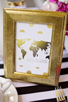 The Big Fake Wedding LA at 440 Seaton 2015- wanderlust wedding table decor - photo: Andie Freeman - http://ruffledblog.com/wanderlust-inspired-wedding-in-los-angeles