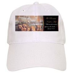 """""""Noah's Ark"""" The Promise Fine Art Baseball Cap is a  good gift to give another."""