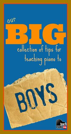 A collection of great advice for teaching boy students effectively #pianoteaching Music Lessons, Piano Lessons, Piano Recital, Teaching Boys, Teaching Music, Drama, Preschool Music, Piano Classes, Best Piano