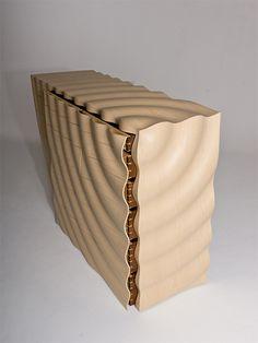 Edward Johnson -  Ripples - Chest of Drawers. Ash & Walnut.