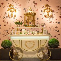 Laduree make up cart at Sephora Paris
