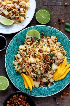 A popular Indian street food known as Bhel Puri with cumin-spiced roasted chickpeas