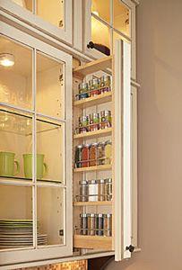 Delicieux Hidden Upper Cabinet Spice Rack