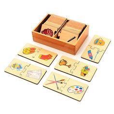 関係性の絵カード合わせ(木製)