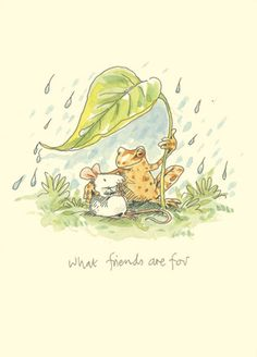 M163 WHAT FRIENDS ARE FOR a Two Bad Mice Greeting Card by Anita Jeram