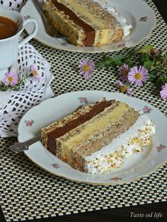 Taste of life: Interkontinental torta Torte Recepti, Kolaci I Torte, Cookie Desserts, Cookie Recipes, Dessert Recipes, Jednostavne Torte, Torta Recipe, Yogurt Dessert, Russian Cakes
