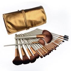 Makeup Brushes, PeleusTech 24pcs Makeup Brushes set Cosmetics Synthetic Professional Brush Set Kit Powder Foundation Eyeshadow Eyeliner Lip Brushes-Golden PeleusTech® http://www.amazon.com/dp/B014SBESO0/ref=cm_sw_r_pi_dp_aaP2wb1FBB7W3