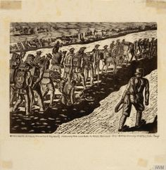 Detachments of Malay Volunteer Regiments Marching from Kanburi to Tasso…