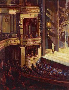 Theatre Paintings - Francis Hamel / Noel Coward Theater