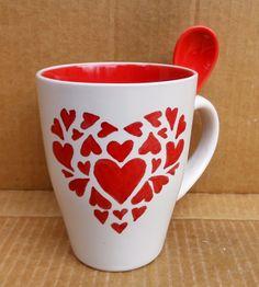 Szívből szívesen Kézzel festett kávés bögre #coffee #mug #love #HandPainted #heart