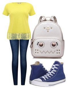 """Auryn"" by thatonegirl132 ❤ liked on Polyvore featuring 2LUV, M&Co, Converse and WithChic"