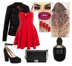 """""""3rd Date"""" by girlygirlprincess ❤ liked on Polyvore featuring New Look, Gianvito Rossi, Jeffree Star, Chanel and Alexander McQueen"""