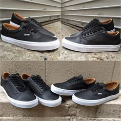 Vans showing you why less is more with their latest Era ($65) & Old Skool ($70) offering. Each shoe gets a premium black leather treatment with a subtle, tan suede inner. Perfect for dressing up or as that essential daily go-to black sneaker. Grab a pair in-store or online at MODA3.com. #vans #era #oldskool #sneakers #offthewall #wafflesole #MODA3 #premium #leather