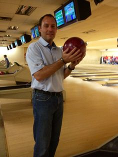Dean Garn at the Welcome Back Bowling Event