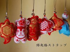 京東都【縁起物 ストラップ】めで鯛!こま犬!鶴亀ストラップ【楽天市場】