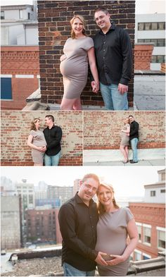pittsburgh maternity photographer rooftop session penn garrison building downtown pittsburgh skyline