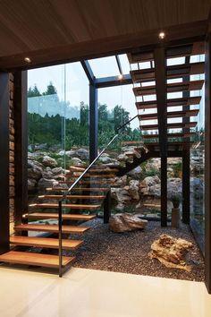 Dream House Interior, Dream Home Design, Modern House Design, Home Interior Design, Decoration Design, Deco Design, Landscape Architecture, Interior Architecture, Stone Houses