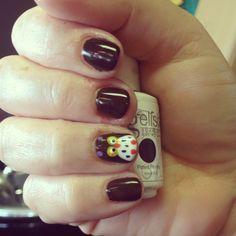 Cute owl nail art for fall! :)