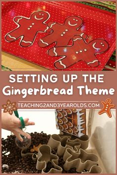 How to put together a toddler and preschool gingerbread theme that is full of fun hands-on activities. Free printables included! #gingerbread #Christmas #holidays #theme #printables #classroom #homeschool #lessonplans #curriculum #teachers #preschool #toddlers #age2 #age3 #teaching2and3yearolds Activities For 2 Year Olds, Hands On Activities, Classroom Design, Classroom Organization, Toddler Preschool, Preschool Activities, Gingerbread Man, Gingerbread Cookies, Daycare Themes