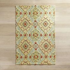 Don't adjust your screen. Our luxuriant rug really is covered in a diamond scroll pattern that looks like a million bucks without costing it. And it's even bigger in real life. Lots bigger. Man, the news just keeps getting better and better.