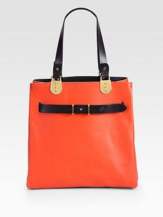 Christian Louboutin Sybil Reversible Tote Bag/Red & Black