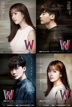 "Lee Jong-suk And Han Hyo-joo's Posters For ""W"" Revealed"