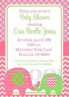 Items similar to Printable Invitation - Personalized Little Peanut Elephant Invitation - I Design - You Print - for Baby Shower or Birthday on Etsy Free Printable Invitations, Free Printables, Buy Buy Baby, Babies R Us, Rsvp, My Design, Elephant, Just For You, Baby Shower