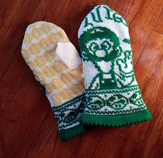 The Year of Luigi Mittens pattern by Jolean Laming