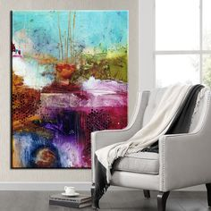 Style moderne à l'huile abstraite peinture toile d'impression rétro rue de la ville paysage à l'huile photos peinture décorative Wall Art pas cadre