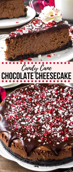 Creamy cheesecake, rich chocolate, and peppermint candy canes - what's not to love? This chocolate peppermint cheesecake is the perfect showstopper holiday dessert! holidays Chocolate Peppermint Cheesecake - the Perfect Christmas Dessert! Mini Desserts, Holiday Desserts, Holiday Baking, Chocolate Desserts, Christmas Baking, Holiday Recipes, Delicious Desserts, Cake Chocolate, Holiday Treats