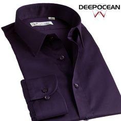Cotton Mercerized Cotton Shirt Mens Long Sleeve Shirt slim Business Casual Shirt Mens middle-aged Korean inch DP